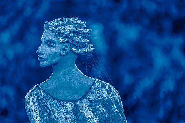 Sculpture de la reine des neiges